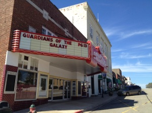 The Crystal Theater in downtown Okemah, Oklahoma, shows a movie every night at 7:30 p.m. Tickets are $5.